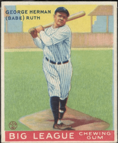 Ten Babe Ruth Baseball Cards That Look Undervalued All Vintage Cards