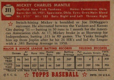 1952-Topps-Baseball-Mickey-Mantle-back